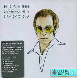 Greatest Hits 1970-2002 (2002) 3CD Special UK Edition - Elton John